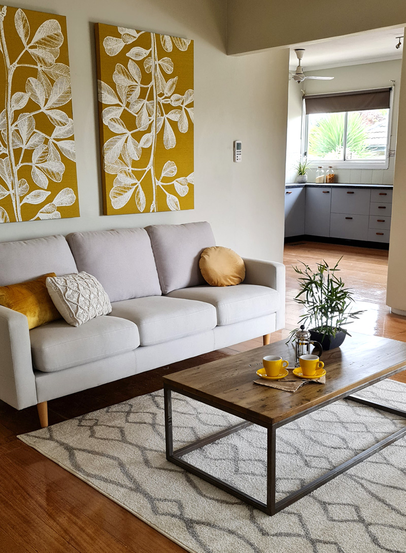 After styling Living area