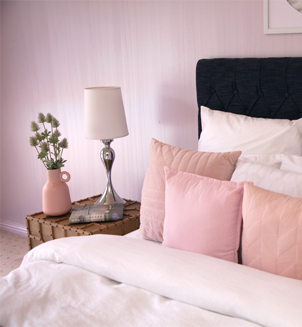 After styling pink bedroom