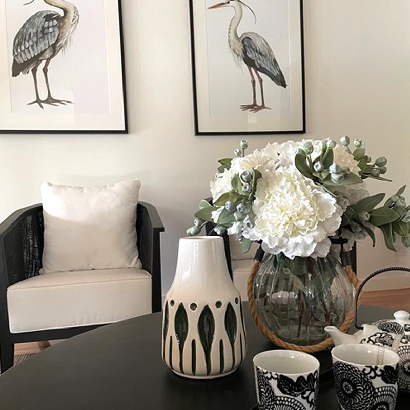 black & white sitting area - Bendigo Property Styling