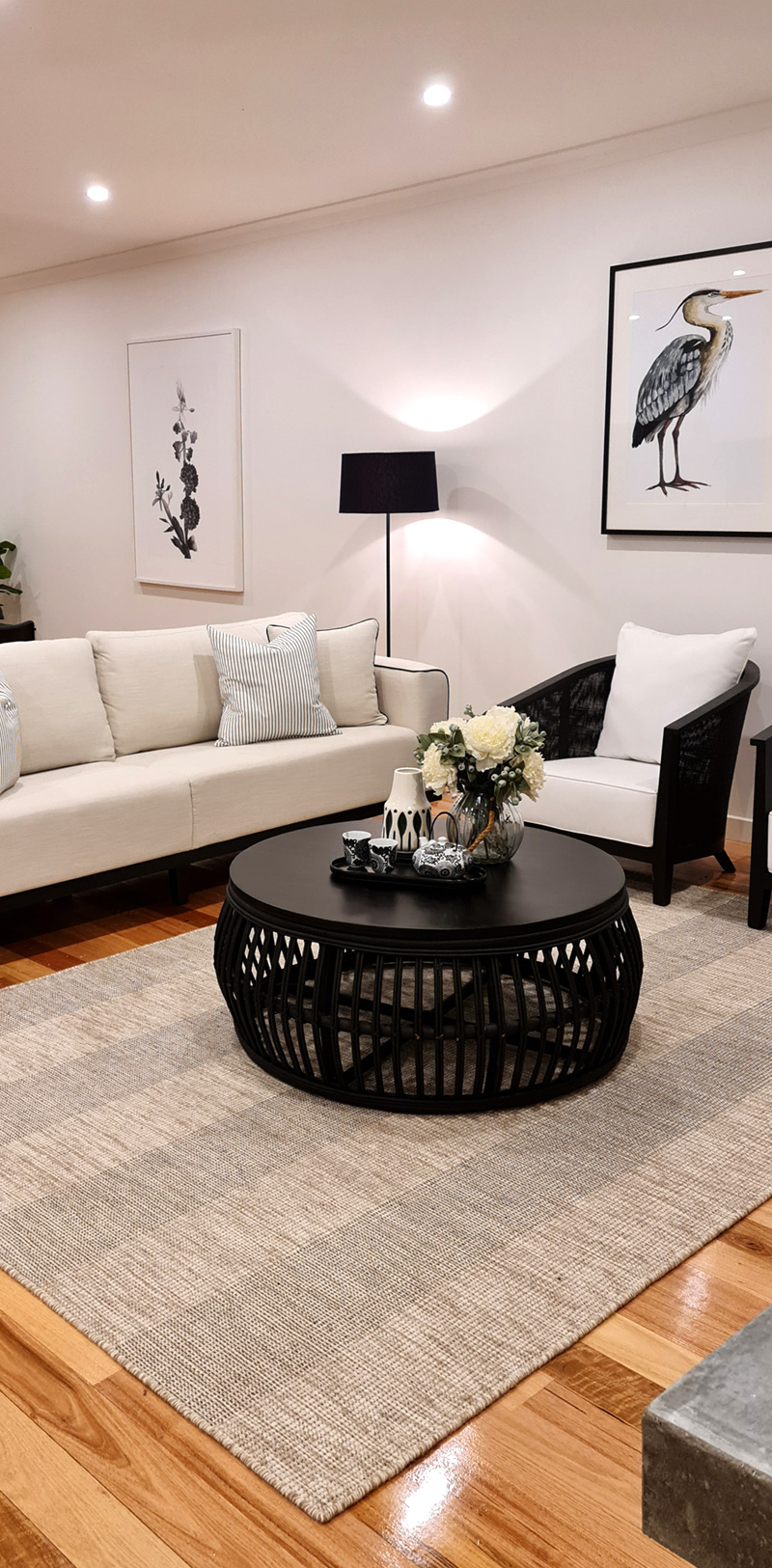 living room styling done by professional property styler