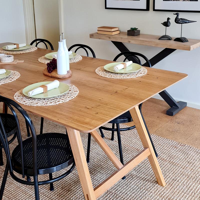 modern dining table styling by Bendigo Property Styling