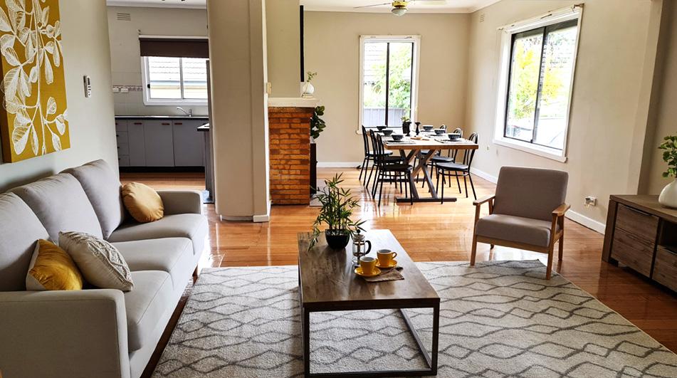 professional room styling by Bendigo Property Styling